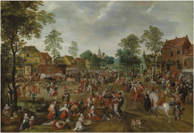 A village celebrating the kermesse of Saint George